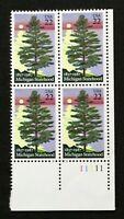 US Plate Blocks Stamps #2246 ~ 1987 MICHIGAN STATEHOOD 22c Plate Block of 4 MNH