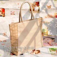 Estee Lauder Ivory Faux Alligator Canvas Tote Shoulder Bag~NEW