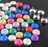 60pcs 14mm Round Acrylic Rhinestone Beads & Claw Setting W/4 Holes For Sew On