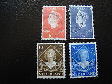 PAYS-BAS - timbre - Yvert et Tellier n° 495 a 498 obl (A2) stamp netherlands