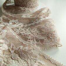 "Beautiful Delicate Pale//Baby Pink Flat Lace trim 1/""//2.5cm laverslace"