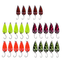 5Pcs Fishing Lures Spoon Metal Lure Kit Artificial Hard Baits Sequins Lures