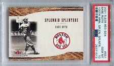 2001 Fleer Red Sox 100 Splendid Splinters Insert #SS1 Babe Ruth HOF PSA 10 POP 1