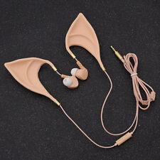 3.5mm Cute Elf Ears Earphones In-Ear Headphones Cosplay Mobilephone Accessories