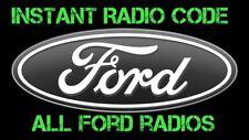 FORD RADIO CODE UNLOCK 3000-4000-5000-6000 CD RADIO LOST CODE  -- Instant Reply