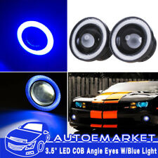 "3.5"" 20W Projector LED Fog Angel Eye Blue Car Front Light Halo Ring High Power"