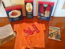 American Girl Tenney Grant NEW lot BANJO Performance Outfit Hat & Necklace Book