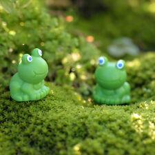 2Pcs Miniature Mini Frog Christmas Resin Fairy Home Garden Craft Decoration FT