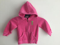 Juicy Couture Zip Front Terry Hoodie Pink Baby Girl's Size 18 Months