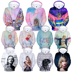 Taylor Swift LOVER Kids Adult Unisex 3D Print Hoodie Sweatshirt Pullover Top