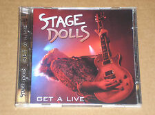 STAGE DOLLS - GET A LIVE - RARO CD + DVD