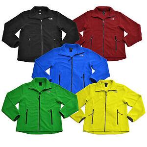 The North Face Mens Jacket Fleece Sweatshirt Full Zip Mock Neck Long Sleeves New