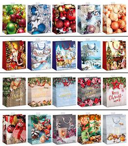 20 große Weihnachtstüten Geschenktüten Weihnachten Geschenktaschen Papiertüten