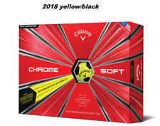 Callaway 2018 cromo suave Truvis pelotas de golf (1 docena amarillo / negro)