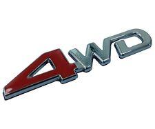 Red 4WD Wheel Drive Badge Metal Hood Front Grilles Grille Grill Emblem For RAV 4