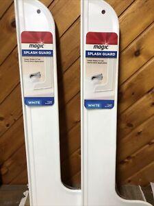 Lot Of 2 Magic Large Shower Splash Guard White 3003 Brand New