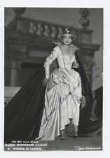 Maria Callas (Opera): Signed Photograph in Ifigenia