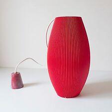 Rispal suspension lustre abat jour design années 50 70 plastique Rhodoïd rouge