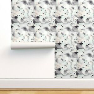 Peel-and-Stick Removable Wallpaper Abstract Watercolor Modern Decor Painting