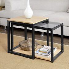 Sobuy 2pcs tavolini Set Tavolino da divano tavolo Consolle impilabili Fbt35-sch