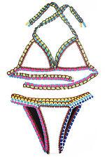 Costume Da Bagno Uncinetto Crochet Bikini Plus Size sling Swimwear Swimsuit XXL
