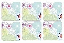 Portmeirion Crazy Daisy Coasters 10.5cm (Set of 6)