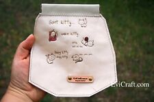 Soft kitty leather Case with internal flex frame, Sunglasses pouch, cosmetic bag