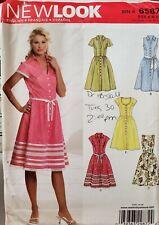 Simplicity New Look pattern 6587 Misses' button front Dress size 8 - 18 uncut
