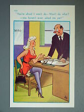 R&L Postcard: Brook Publishing, 12101 Secretary Lady in Stockings & Suspenders