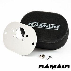 RAMAIR Carb Luftfilter mit Grundplatte Su HIF6 (Mini Offset) 65mm Bolzen Auf
