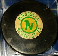 Vintage 1968-1969 NHL CONVERSE Art Ross Minnesota North Stars GAME USED PUCK