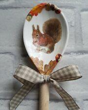 Red Squirrel Decorative Wooden Spoon