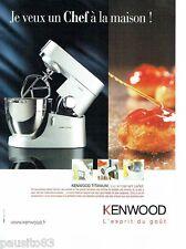 PUBLICITE ADVERTISING 116  2008  le robot culinaire Kenwwod  Titanium