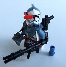 "Lego Star Wars Custom arc soldat commandant ""COLT"" + custom TÊTE CASQUÉE & Equipment"