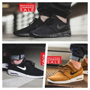 BNIB New Boys Nike Air Max Stefan Janoski Triple Black White Hazel Size 4 5 6uk
