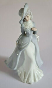 Porcelain Figure-Depicting-Classically Dressed-Elegant Lady-Very Good Condition