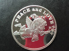 2006 SilverTowne Peace and Love Angel Holiday Season Silver Art Medal P2445