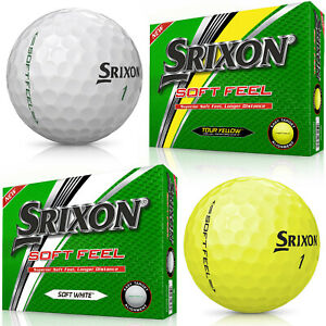Srixon Soft Feel Dozen Golf Balls - 2018 Soft White or Tour Yellow