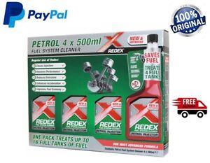 Redex PETROL One Shot  4 x 500ml Fuel Engine Cleaner Injection Redex Red