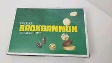 """Deluxe Backgammon Board Game Set - 18"""" Black Attache Case Rare Color"""