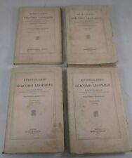 GIACOMO LEOPARDI EPISTOLARIO LOTTO 4 VOLUMI 1935/1941 LE MONNIER