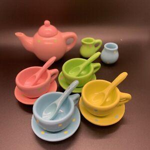 MINIATURE Toy TEA SET Synthetic (16 PIECE SET)