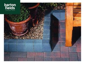 Block Paving Charcoal High Kerbs for Driveways / KL Key Kerbs 200mm High Edgings
