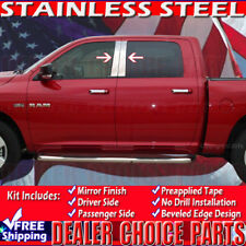 2009-2018 RAM Crew/Extended Cab 4pc STAINLESS STEEL Pillar Posts Trim Overlays