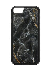 Black Marble Style Stone Pattern Rubber Phone Case