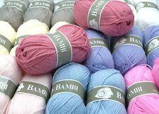 Lot de 20 pelotes de laine idéal layette bébé Bambi - Livraison offerte !!