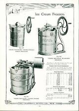 Catalog Page Ad Pettee Co Ice Cream Freezers Crushers Soda Fountain Supply 1922