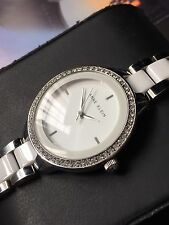 Ladies Anne Klein Designer Watch AK/N1419 Diamanté White Ceramic