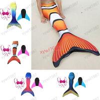Finding Nemo Dory Swimming Mermaid Tails Swimable Monofin Kids Adult Swimwear