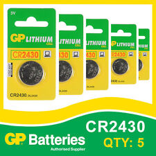 GP Lithium Button Battery CR2430 (DL2430) card of 5 [WATCH & CALCULATOR + OTHER]